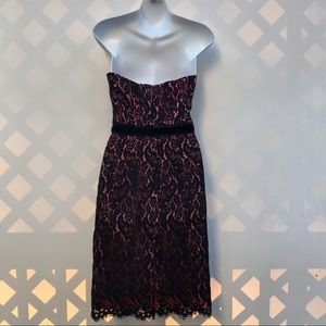 Trina Turk Strapless Lace Cocktail Dress Size 2